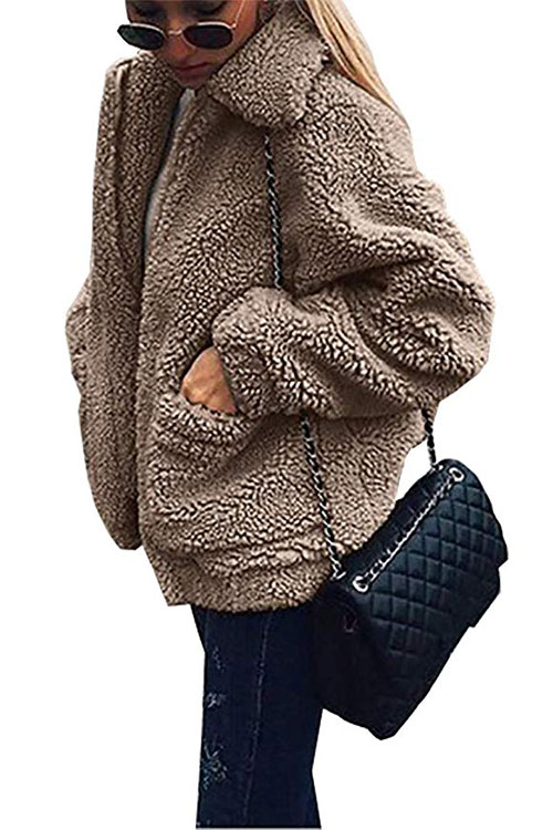 fashionable womens fleece jacket