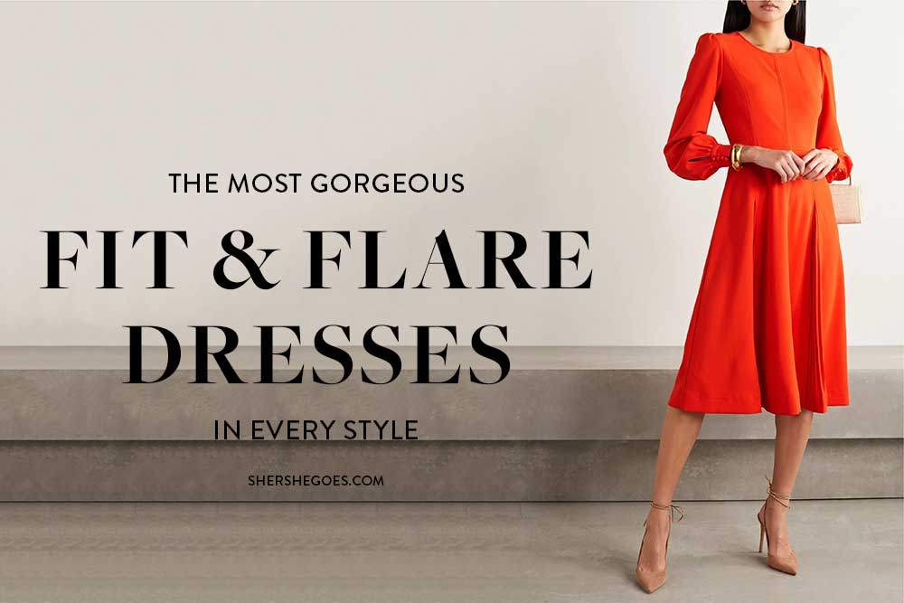 fit-and-flare-dress-with-sleeves