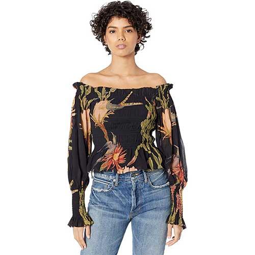 floral-off-the-shoulder-top
