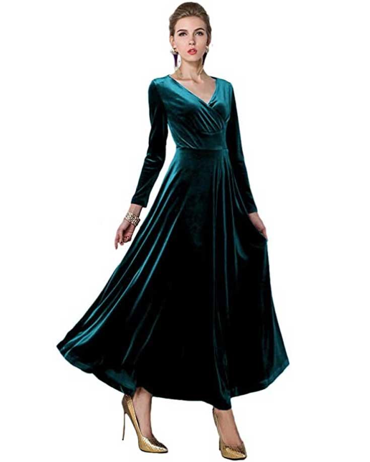 formal-velvet-dress-for-events