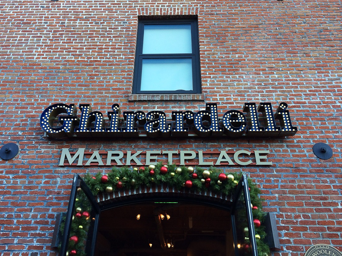 ghirardelli chocolate factory peppermint snowflake photo shershegoes.com4