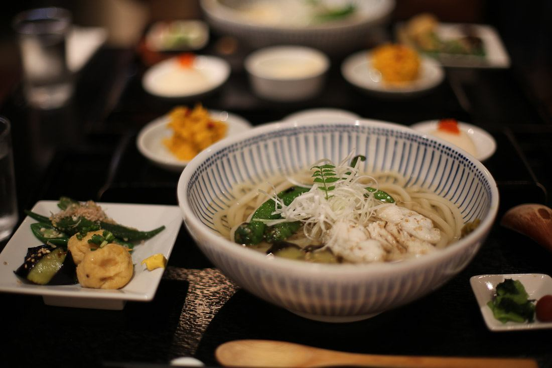 japan tokyo japanese food vegetarian soba noodle soup dinner delicious photo shershegoes.com1