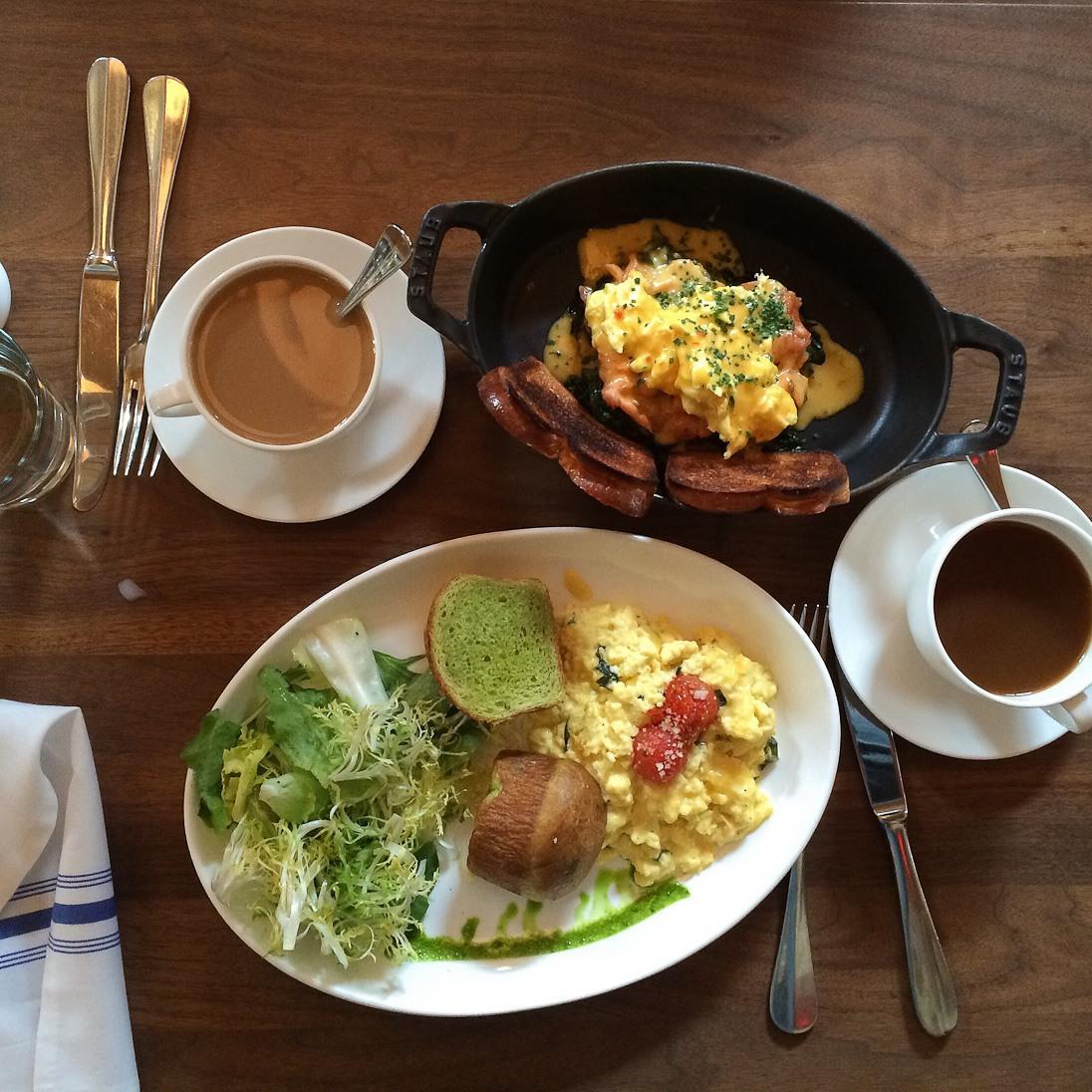 lafayette new york city noho restaurant dinner brunch eggs healthy coffee bay windows black and white food delish