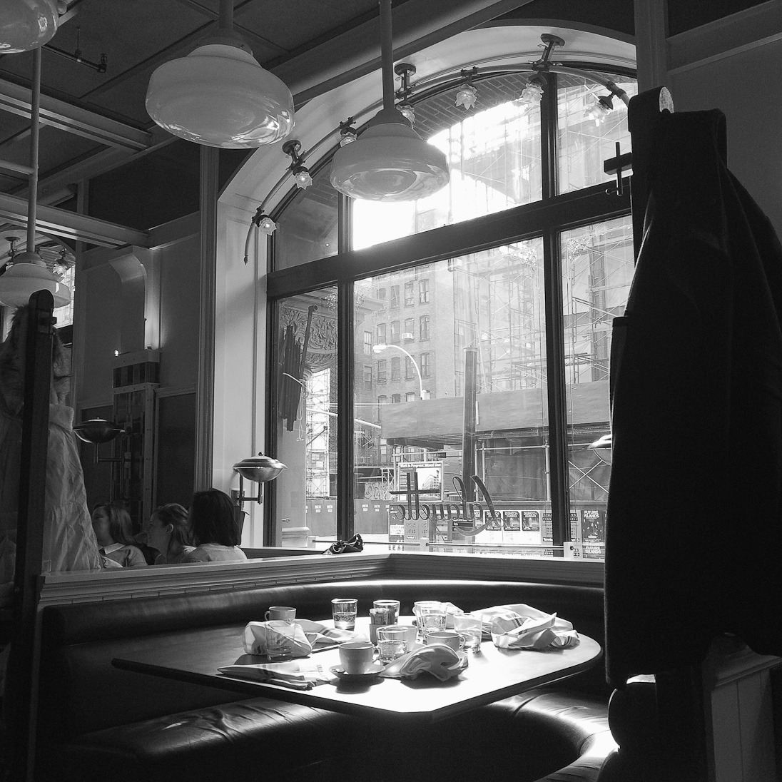 lafayette new york city noho restaurant dinner brunch eggs healthy coffee bay windows black and white food delish