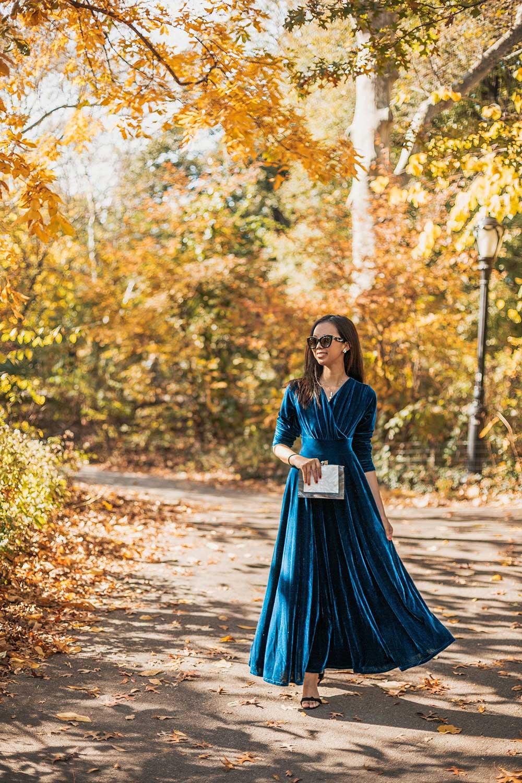 long-sleeve-velvet-dress