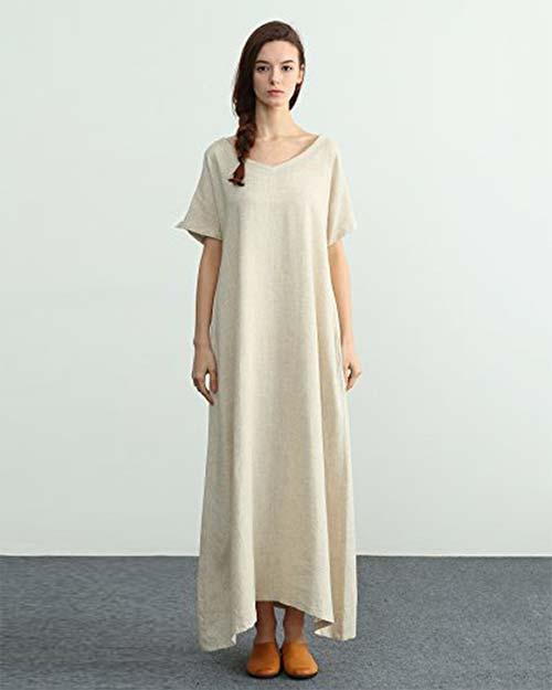 loose linen dress