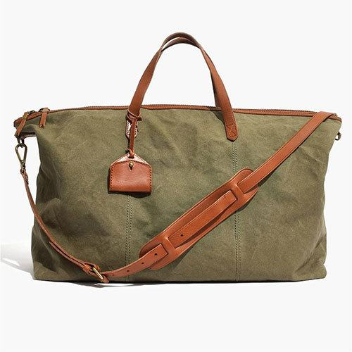 madewell canvas weekender bag