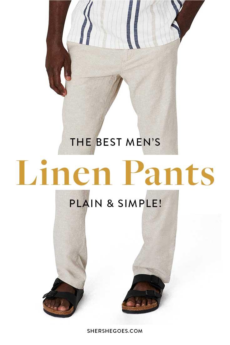 mens-plain-linen-trousers