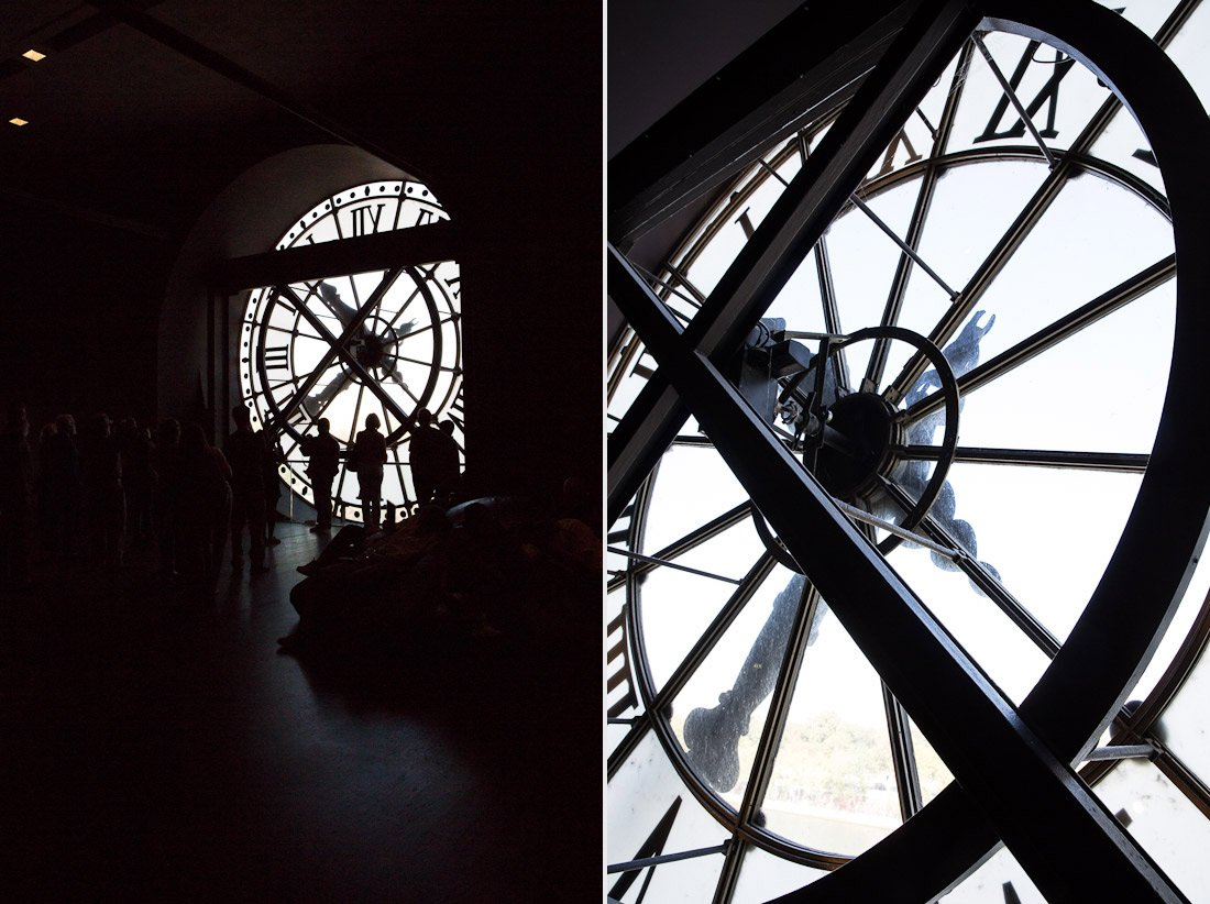 musee d'orsay museum orsay train station art painting clock hands time tower paris photo shershegoes.com (1)