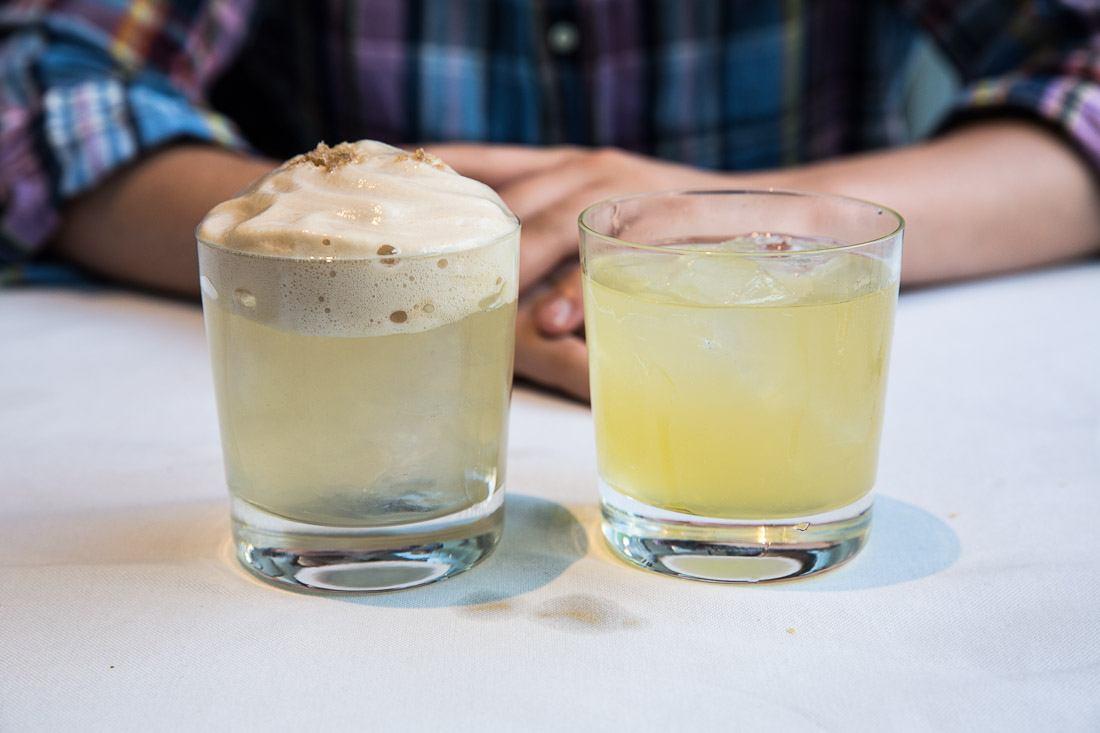 sher cocktail the self portrait tequila lillet blanc bitter lemon black walnut salt the algonquin wits gin ginger honey