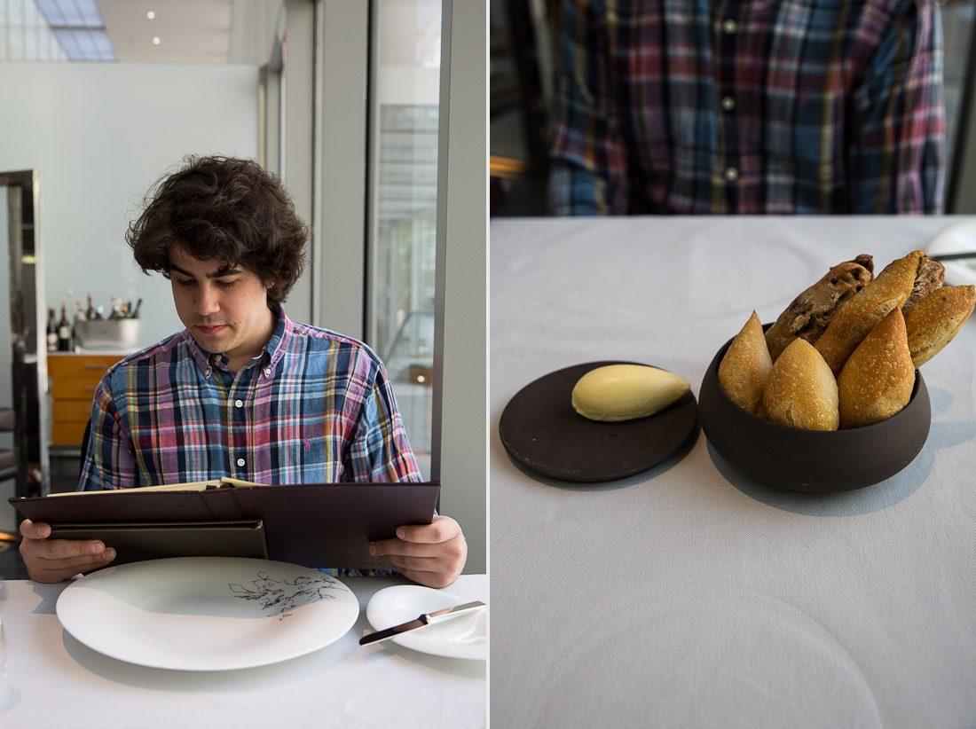 sher the modern moma dining room bread basket butter rosemary baguette cinnamon raison wheat