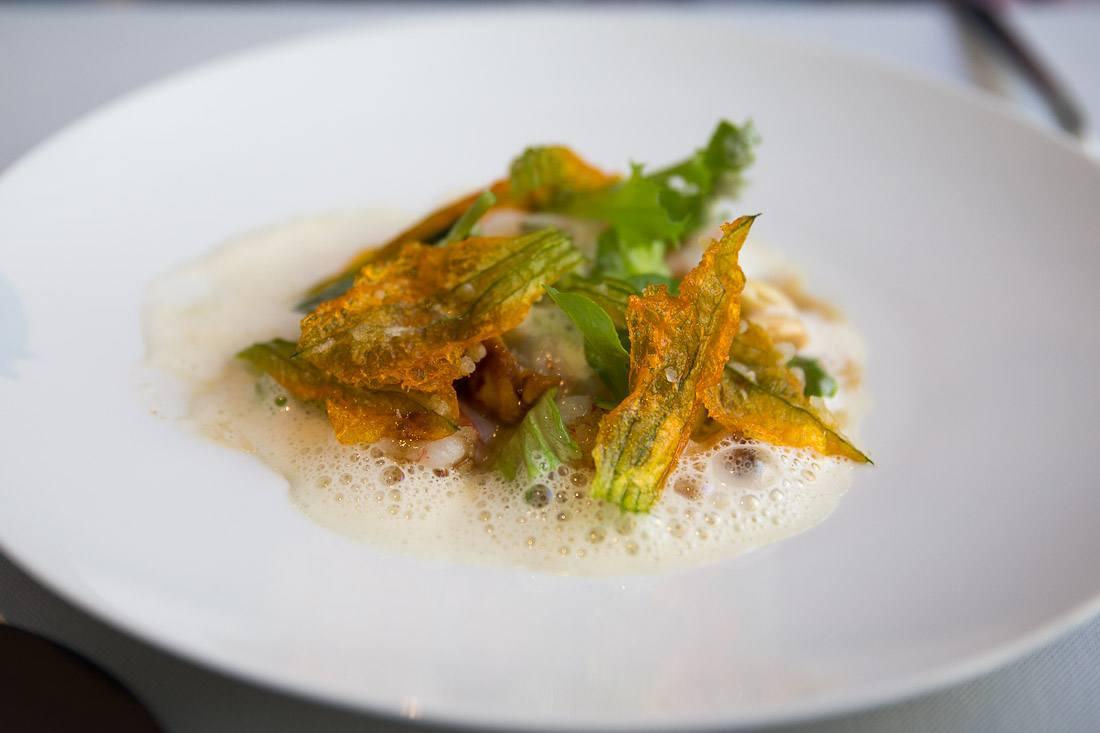 sher the modern dining room museum of modern art shrimp greens vegetable