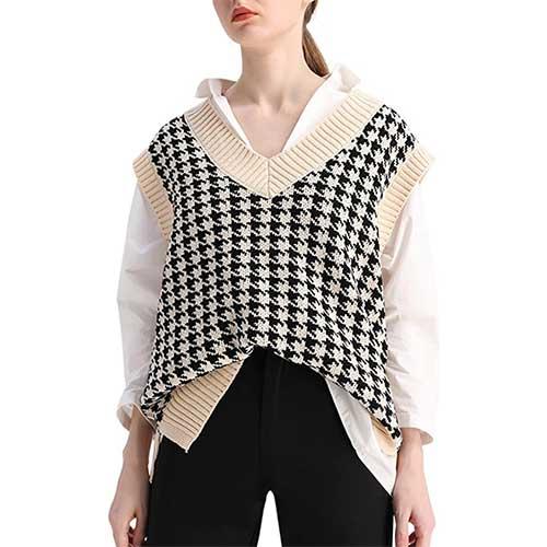 oversized sweater vest amazon fashion