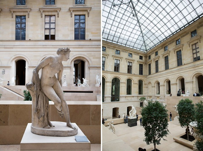 art sculpture marble white light ceiling musee du louvre Mesopotamia Greek Roman exhibit wing denon window glass pyramid