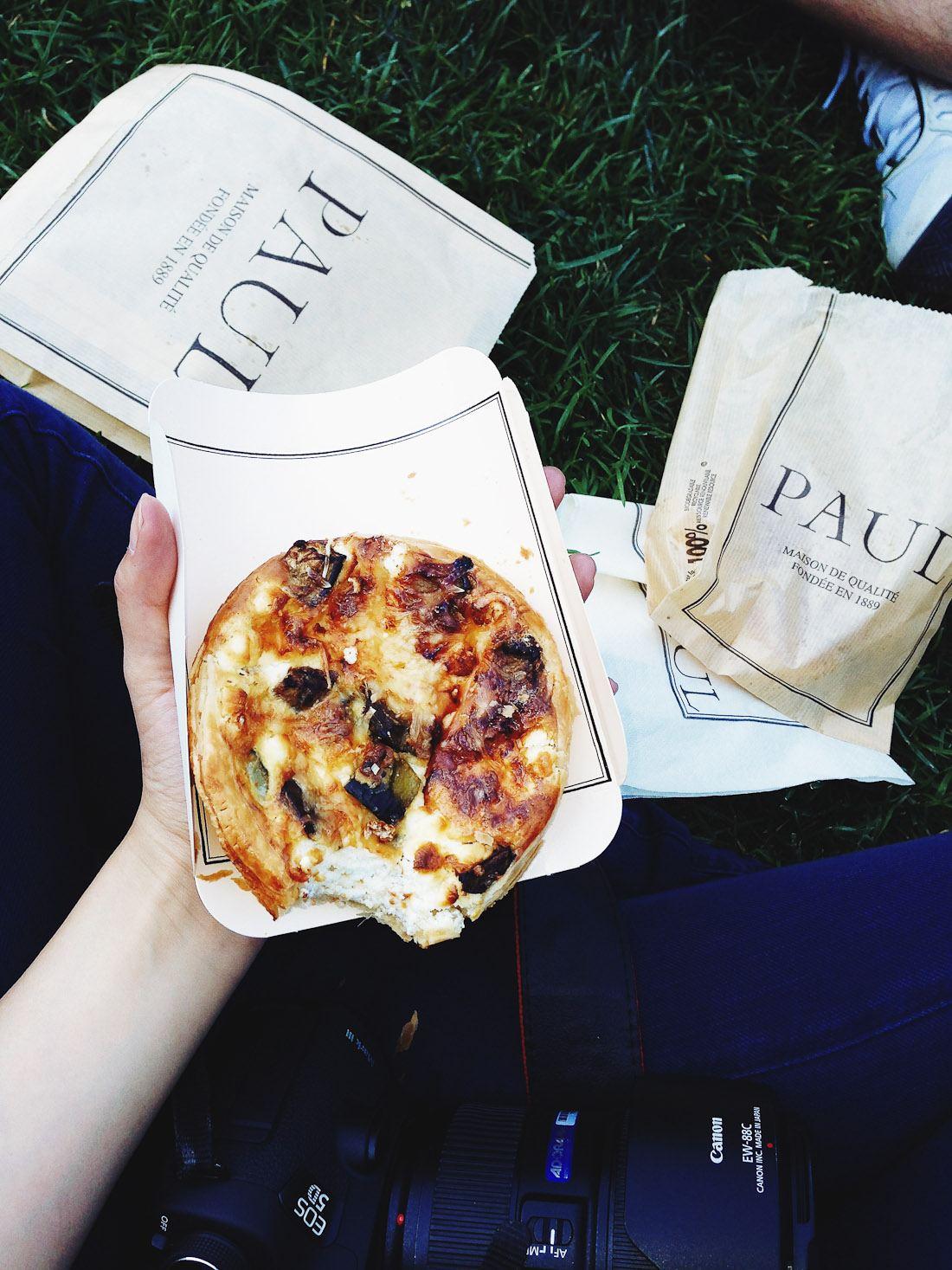 paul france paris bakery tarte quiche veggie vegetable food picnic sher she goes shershegoes1