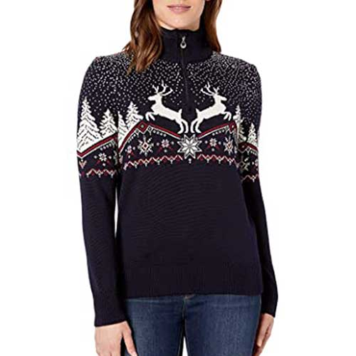 reindeer-holiday-sweater-for-women