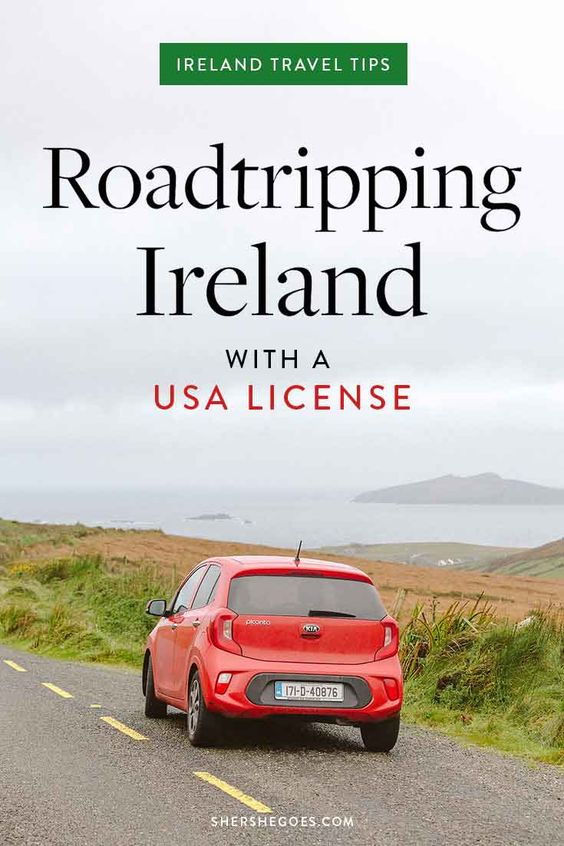 renting a car in ireland as an american