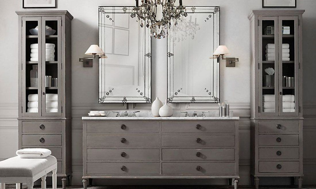 Restoration hardware bathroom vanity restoration hardware for Restoration hardware bathroom cabinets