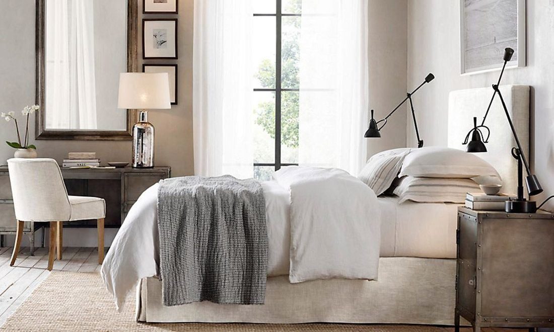Restoration Hardware RH Bedroom White Furniture  Bed Frame Desk Table Interior Design Shershegoes.com (9)