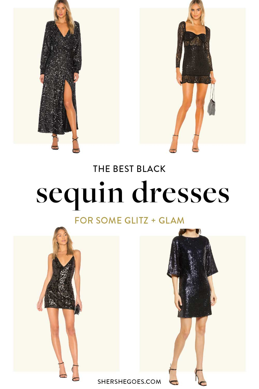 sequin-black-dresses