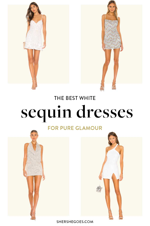sequin-white-dresses