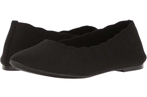 skechers-memory-foam-black-ballet-flats
