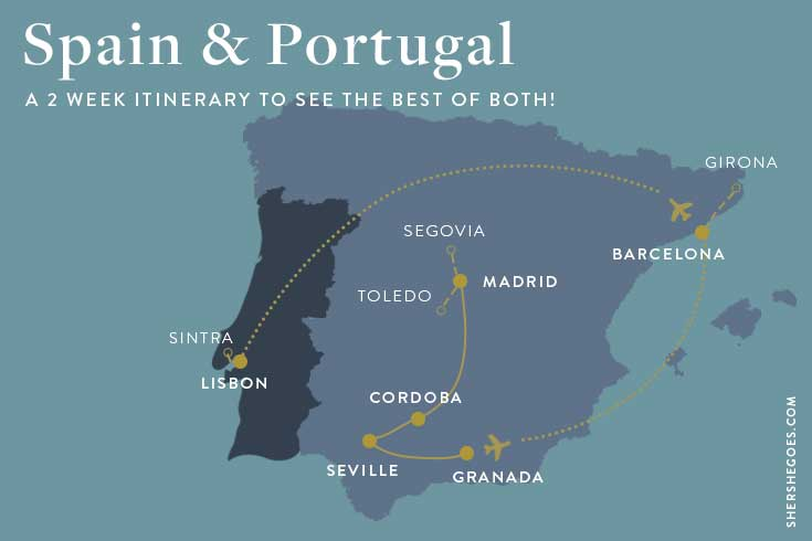 spain-and-portugal-itinerary-map
