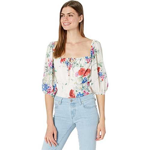 square-neck-floral-off-the-shoulder-top
