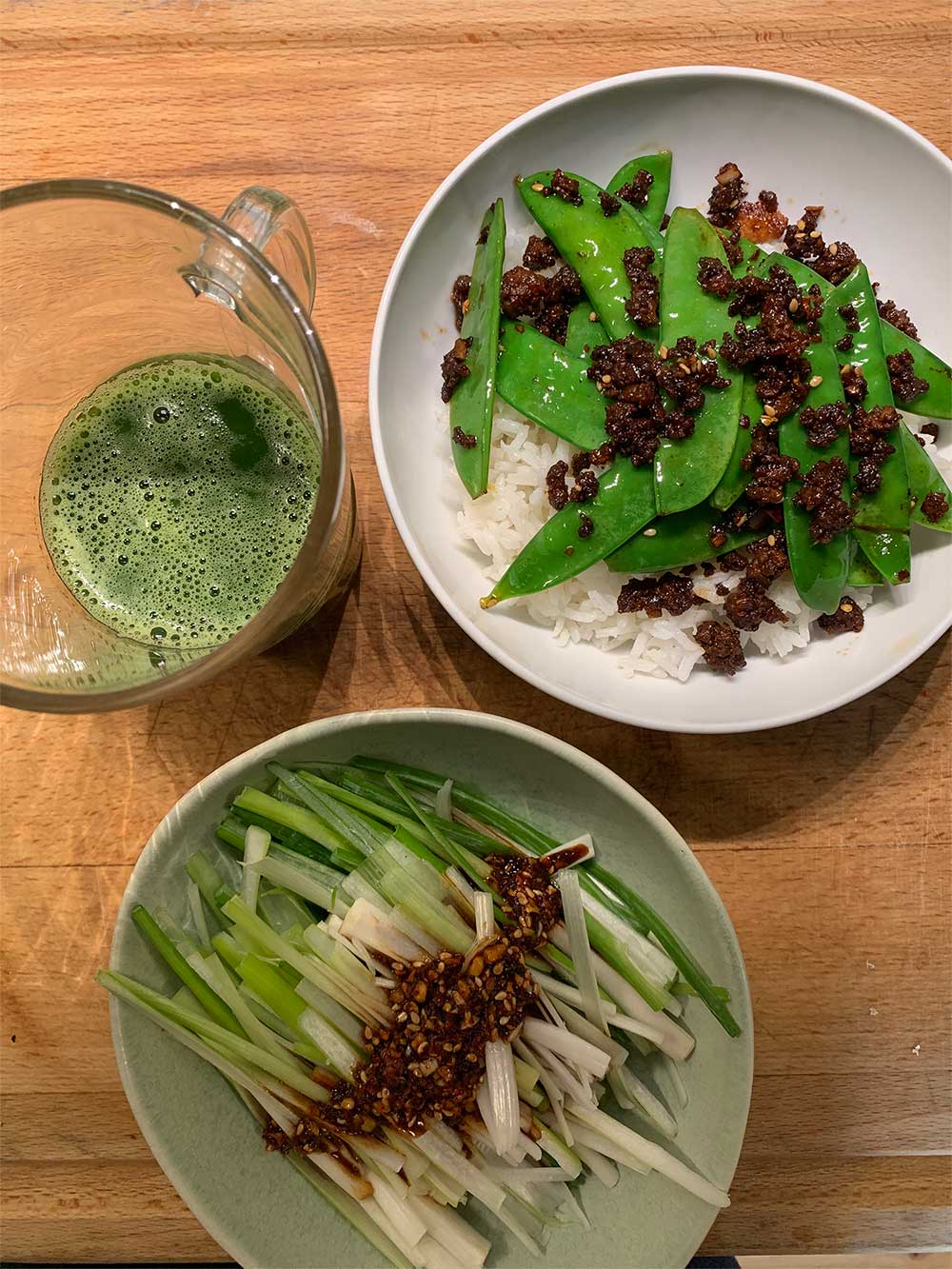 stir-fry-green-juice-dinner