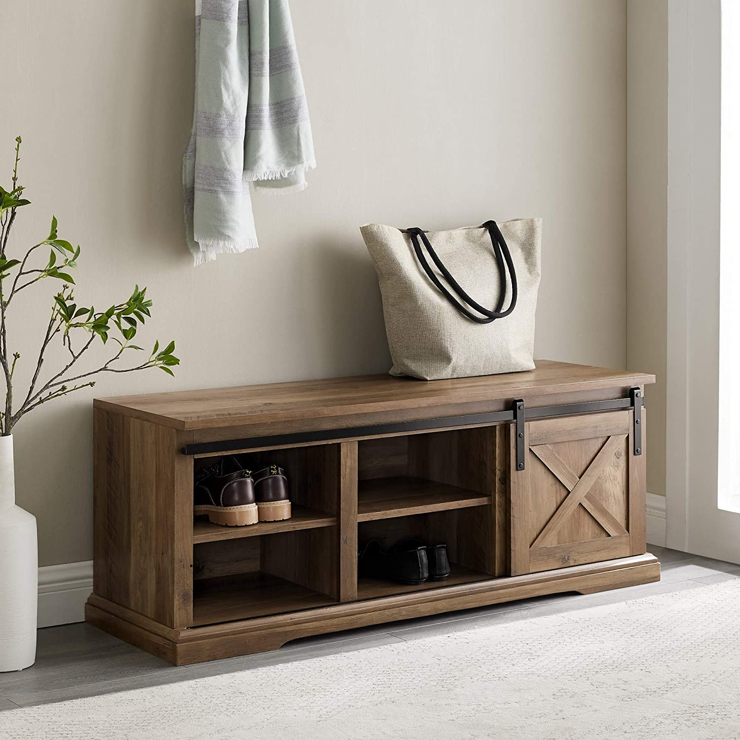 storage for small spaces entryway bench with storage