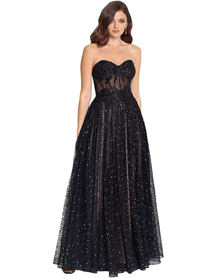 strapless-black-ballgown-for-formal-event