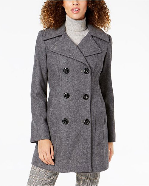 stylish winter pea coat for women