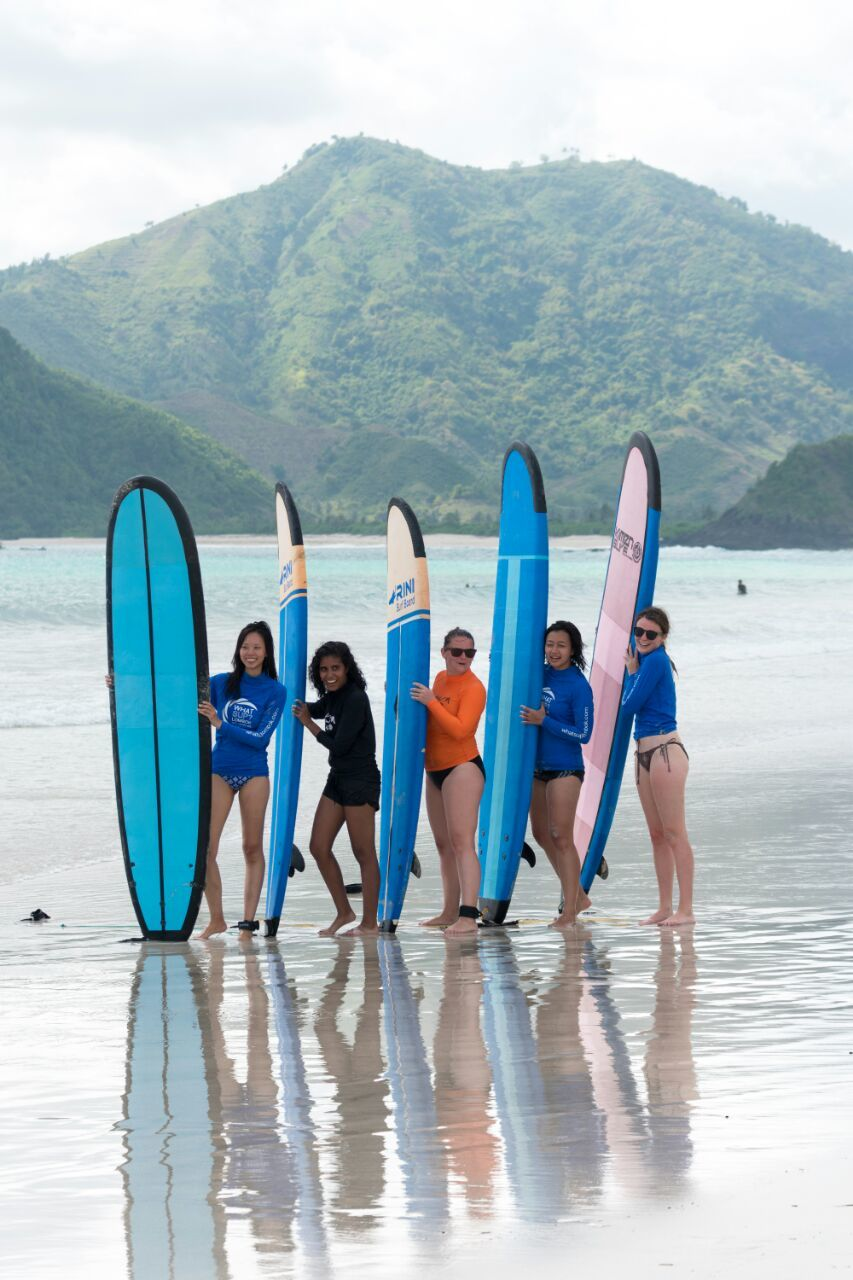 surfing in Lombok Indonesia
