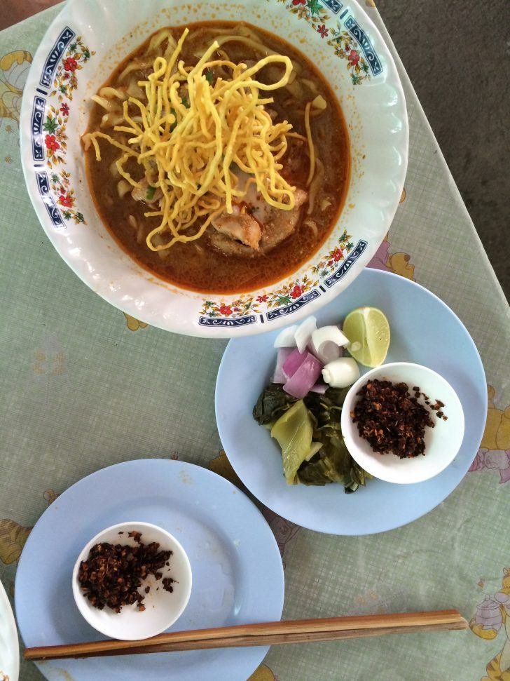 thailand chiang mai khao soi curry fried noodles northern thai food photo shershegoes.com1