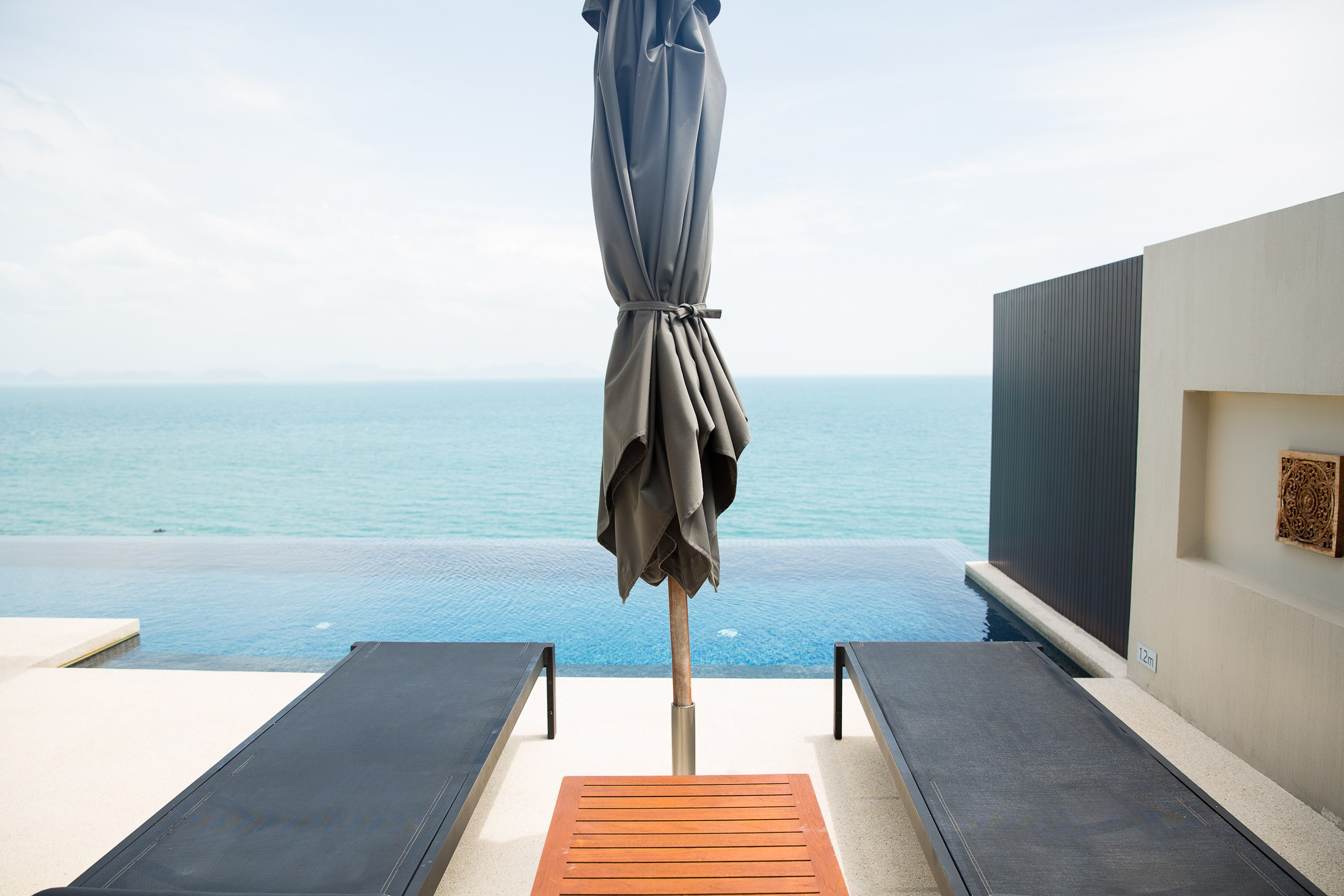 thailand conrad koh samui ko samui hotel villa suite ocean front view beach private infinity pool sunst thai food cocktail pool island snorkle snorkling fresh squeeze juice guava watermelon apple dragonfruit island paradise sher she goes shershegoes.com