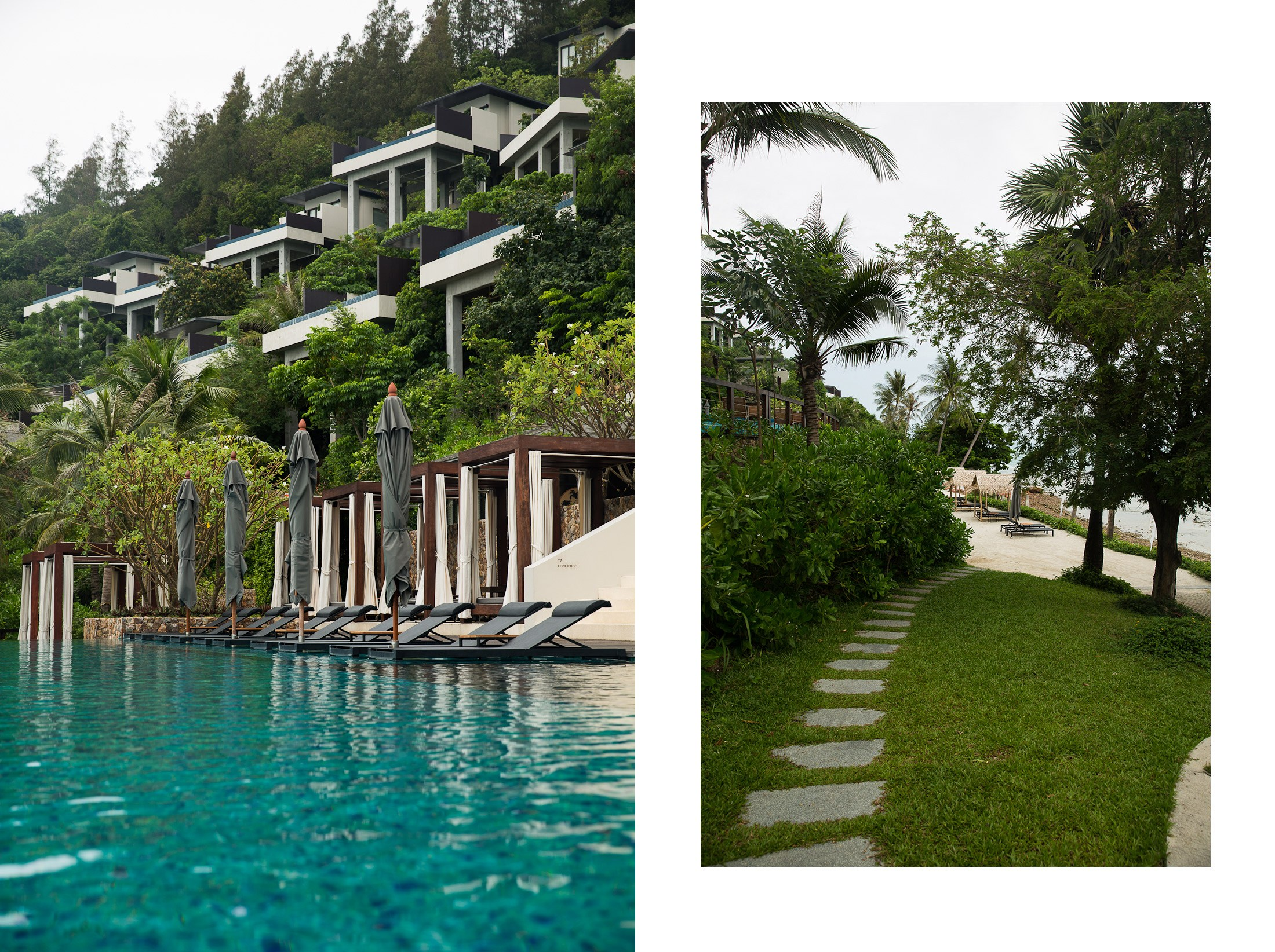 conrad koh samui hotel resort thailand samui island paradise vacation infinity pool beach villa hut rocky sun summer vacation shershegoes.com