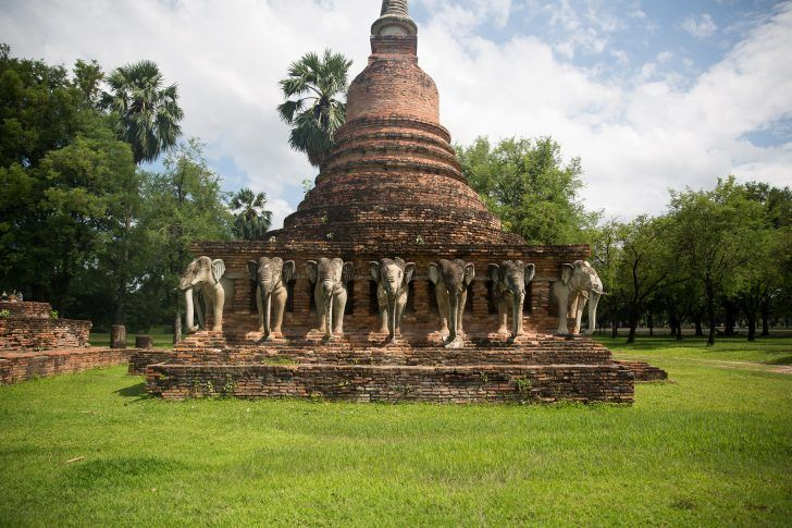 thailand sukhothai ancient siam ruins buddha wat temple structure stone brick bodhi tree thai food summer travel photo shershegoes.com sher she goes