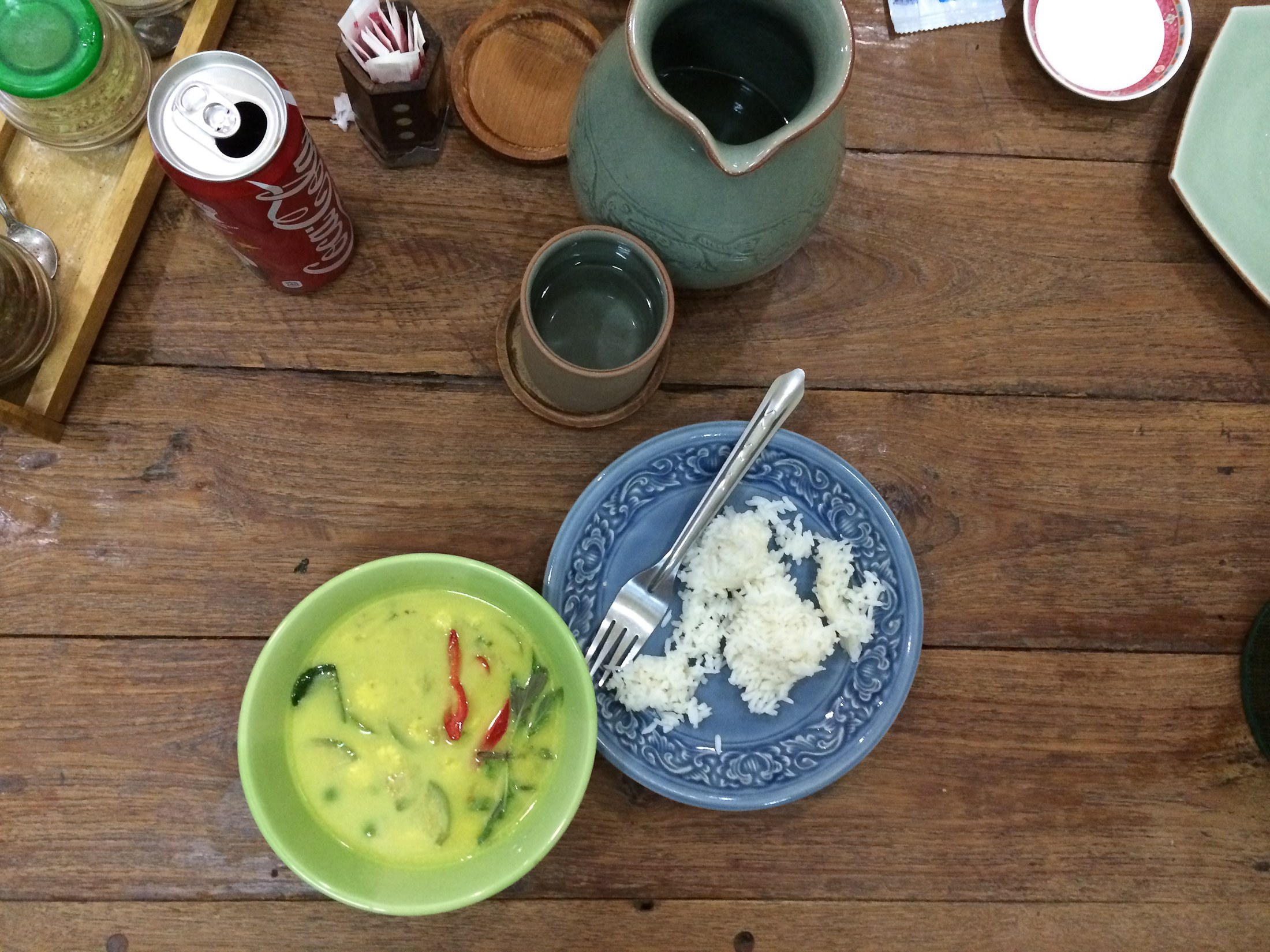 thailand chiang mai green curry mild rice sweet food sher she goes
