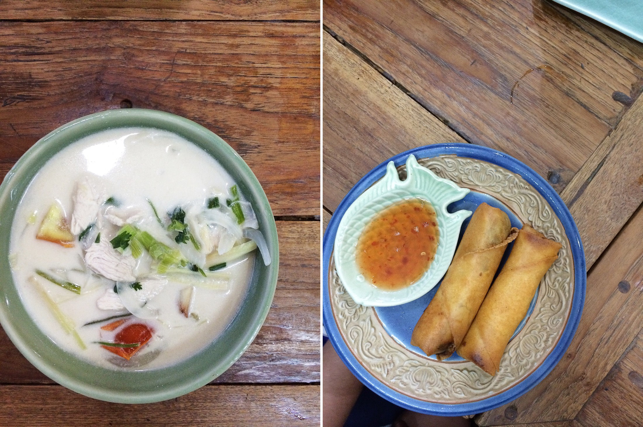 thailand chiang mai thai cooking class food spring rolls coconut curry soup sher she goes