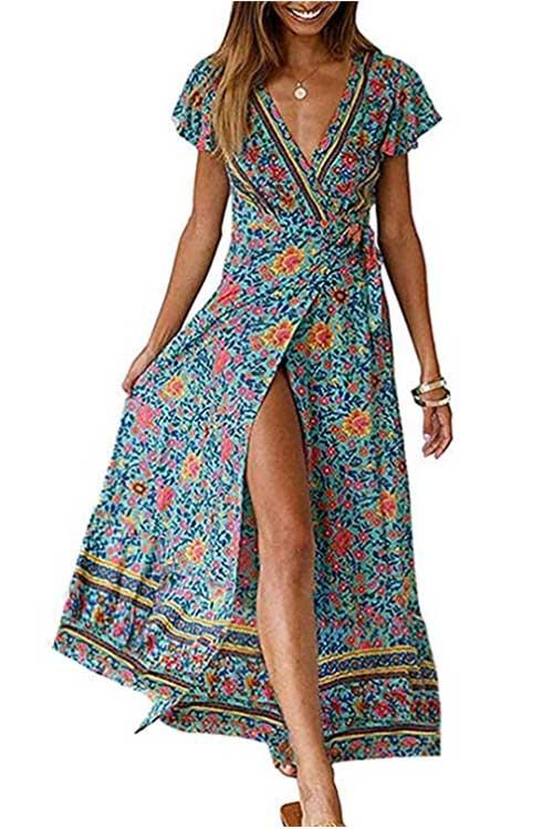 travel wrap dress