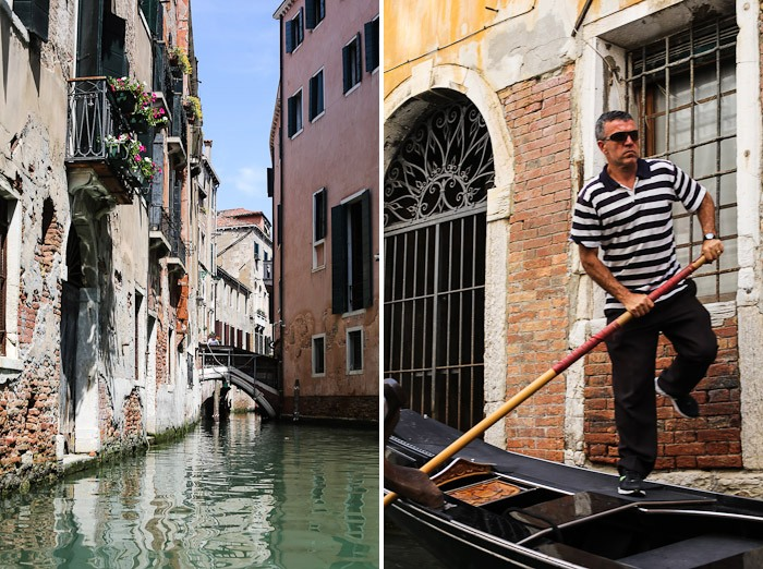venezia europe travel oar gondola canal lagoon house pink water boat ride