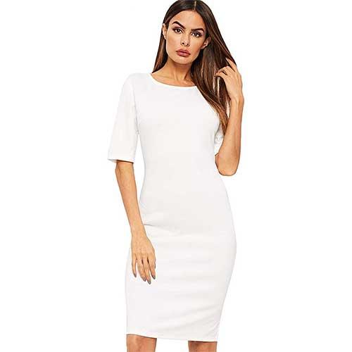 white bodycon dress amazon