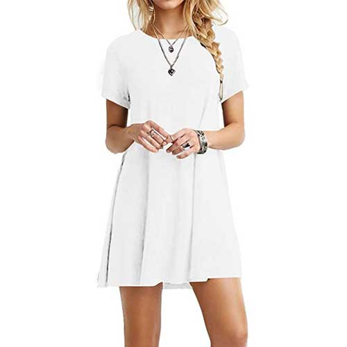white cotton dress amazon