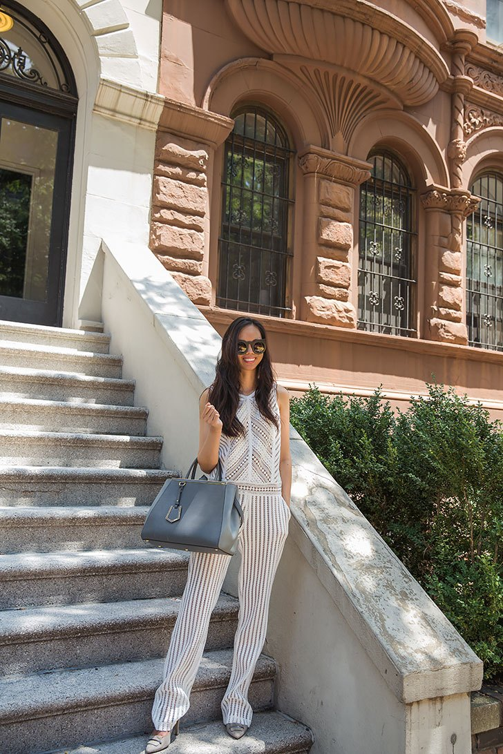 white lace jumpsuit summer outfit style