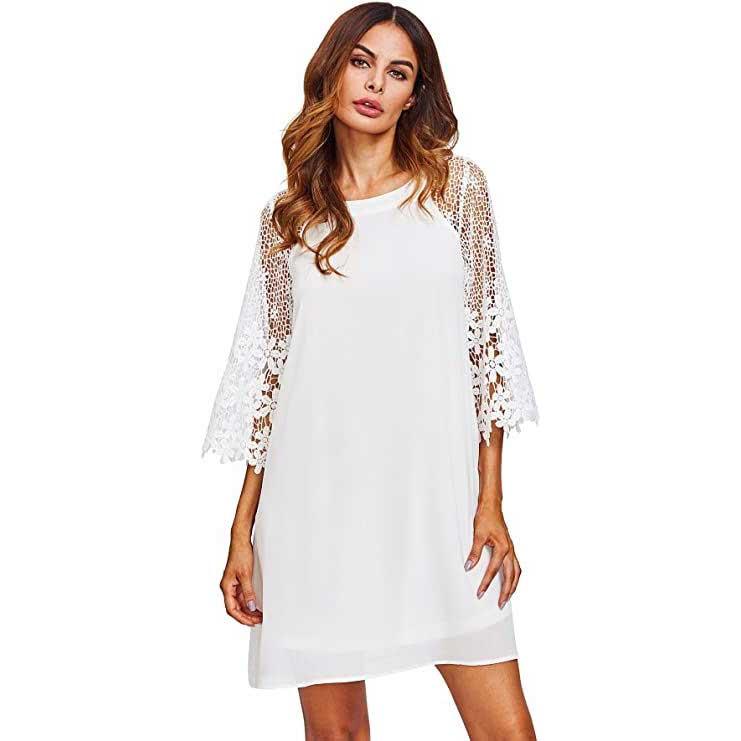 white lace dress amazon