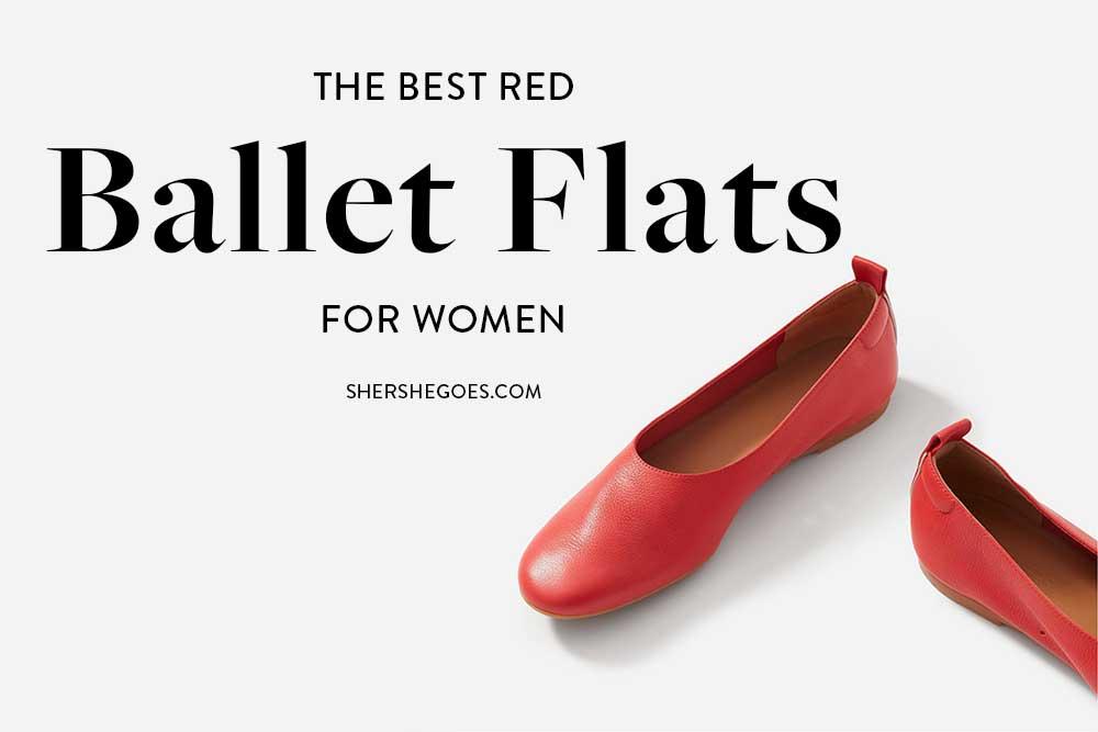 womens-red-ballet-flats