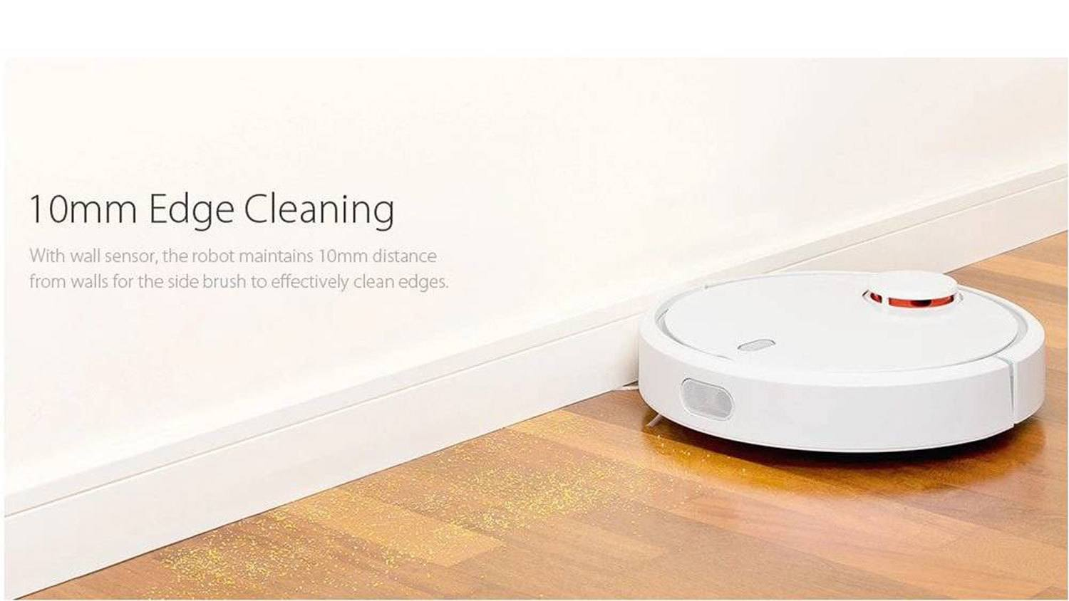 xiaomi mi robot vacuum wall sensor edge cleaning